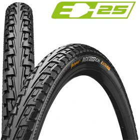 "Continental Ride Tour Bike Tyre 28"", wire bead black"